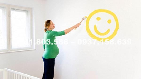 Sơn nhà có ảnh hưởng đến bà bầu và thai nhi 3