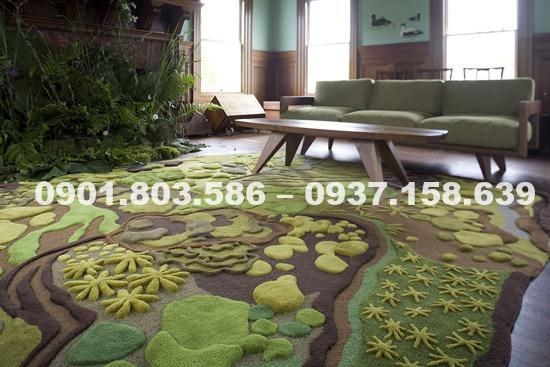 Thảm lót sàn nhà 3D xu hướng trang trí nội thất tương lai 7