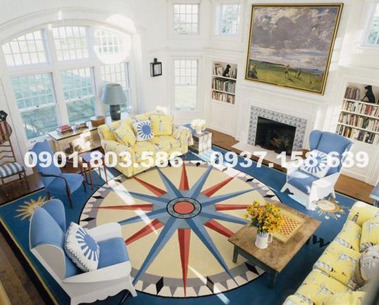 Thảm lót sàn nhà 3D xu hướng trang trí nội thất tương lai 5