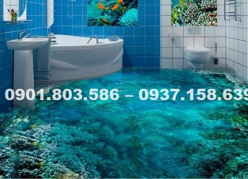 Ngỡ ngàng trước vẻ đẹp của những mẫu sàn nhà tắm 3D độc đáo ấn tượng 3