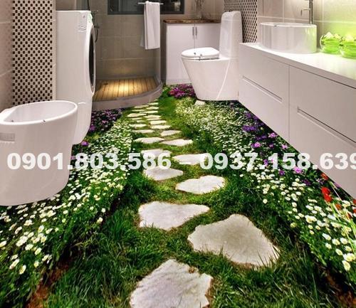 Ngỡ ngàng trước vẻ đẹp của những mẫu sàn nhà tắm 3D độc đáo ấn tượng 4