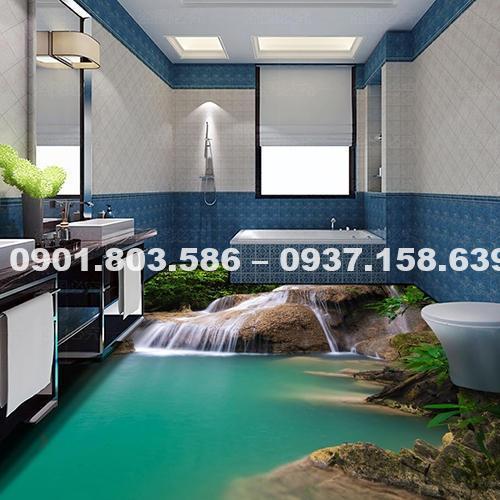Ngỡ ngàng trước vẻ đẹp của những mẫu sàn nhà tắm 3D độc đáo ấn tượng 5