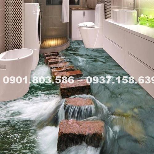 Ngỡ ngàng trước vẻ đẹp của những mẫu sàn nhà tắm 3D độc đáo ấn tượng 6