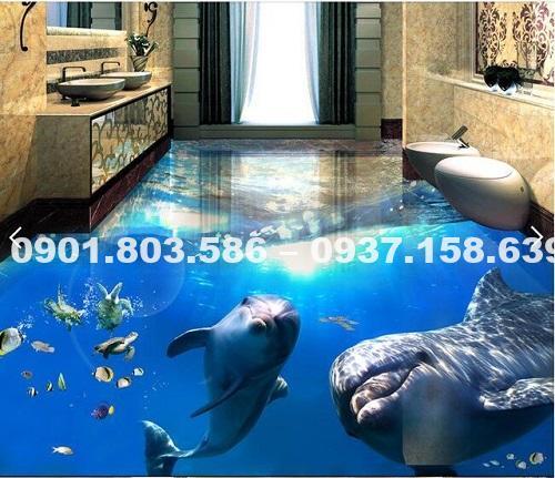 Ngỡ ngàng trước vẻ đẹp của những mẫu sàn nhà tắm 3D độc đáo ấn tượng 2