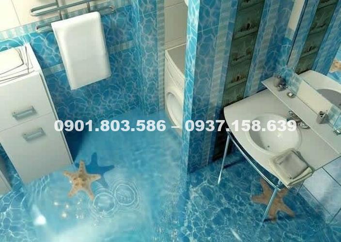 Ngỡ ngàng trước vẻ đẹp của những mẫu sàn nhà tắm 3D độc đáo ấn tượng 11
