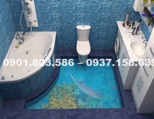 Ngỡ ngàng trước vẻ đẹp của những mẫu sàn nhà tắm 3D độc đáo ấn tượng 8