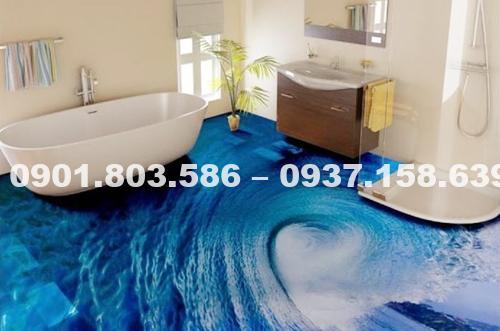 Ngỡ ngàng trước vẻ đẹp của những mẫu sàn nhà tắm 3D độc đáo ấn tượng 12