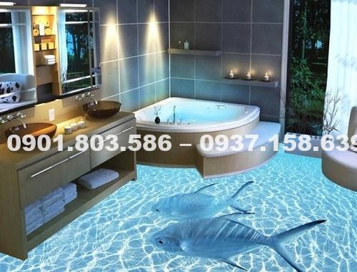 Ngỡ ngàng trước vẻ đẹp của những mẫu sàn nhà tắm 3D độc đáo ấn tượng 9
