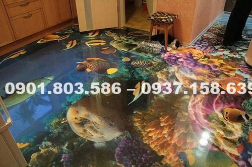 Tranh dán sàn nhà 3d có độ bền như sơn không? 22